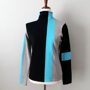 Spanner Mod 60s Style Color Block Sweater